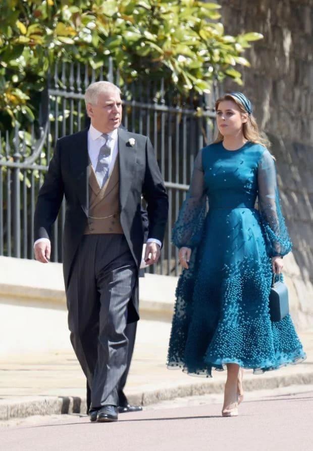 Принцесса Беатрис с отцом