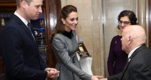 Герцог и герцогиня Кембриджские на мемориальной службе Холокоста