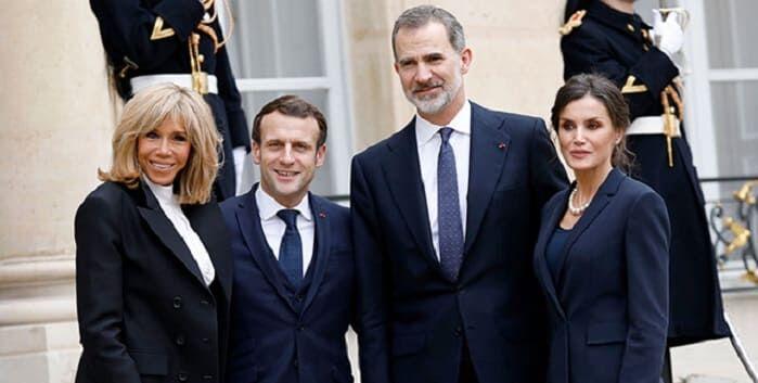 Photo of Брижит и Эммануэль Макрон встретились с королем и королевой Испании Филиппом VI и Летицией
