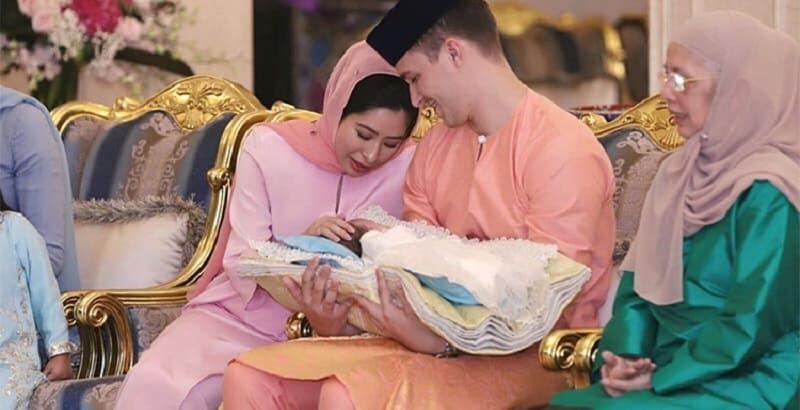 Photo of Принцесса Малайзии Амина и ее муж-простолюдин впервые стали родителями
