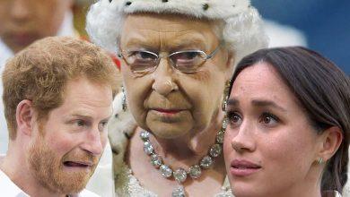 Photo of Новый анекдот: королева летит в Лос-Анжелес, чтобы повлиять на Меган Маркл и своего внука